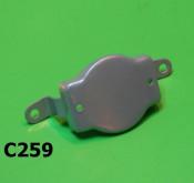 Front legshield shield mounting bracket