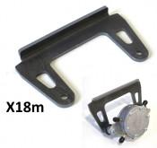 Weld on metal bracket for mounting Mikuni fuel pump X18c