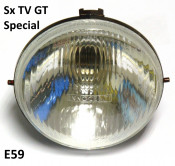 Headlight unit for Lambretta SX TV GT Special