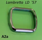 Chome rectangular speedo rim Lambretta LD '57