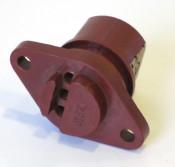 Bakelite electrical connector block for LT flywheel wires (on top of magneto flange) Lambretta S1