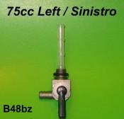 Rubinetto benzina con uscita a SINISTRA da 8mm Vega Cometa Lui 75cc
