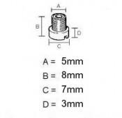 5mm jet Dell'Orto MA + MB + SH + SHB (main jet) + PHBL + PHBH (min jet) carburettors