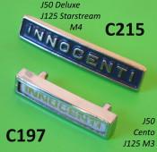Innocenti front legshield badge for Lambretta J50 Deluxe + J125 Starstream