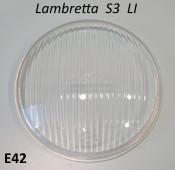 Original Innocenti CEV type headlamp glass (120mm diam.) for Lambretta S3 LI