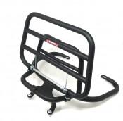 NEW DESIGN! Black upright rear carrier accessory for Lambretta V-Special