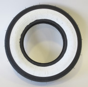 """Continental 3.50 x 8"""" white wall tyre (vintage tread pattern) for Lambretta D + LD"""