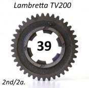39T 2nd gear cog for Lambretta TV200 /GT200