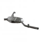 Complete 'Innocenti' exhaust silencer + U bend for Lambretta S3 (all models)