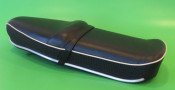 Black (with white piping) Pegasus 'flatbase' seat Lambretta S3 (HIGH fronted version) + S1 / S2