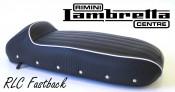 'RLC Fastback' sports seat (black) Lambretta S1 S2 S3 GP DL Serveta