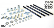 Complete set of nuts + screws + spacers + washers + studs for SS200 + SS225 + SS250 kits