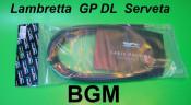 BGM Pro complete cables kit - Black - Lambretta S1 + S2 + S3 + SX + DL/GP