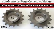 16T front sprocket (cush drive type) for Lambretta Lui Vega Cometa + J