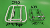 NEW PRODUCT! Rear AF 'S' Type style carrier for Lambretta S3 + GP DL + Serveta (white)