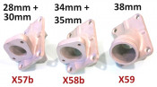 Casa Performance 32, 34 & 35mm carbs inlet manifold for SS200 + SS225 + SSR250 + SSR265 Scuderia + SST265 kits