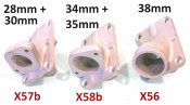 Casa Performance 28, 30mm carbs inlet manifold for SS200 + SS225 + SST265 kits